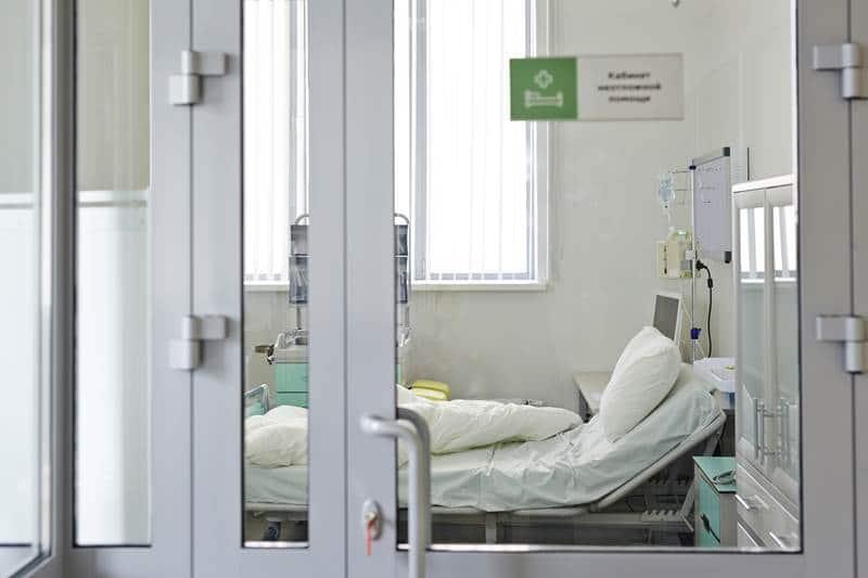 glass hospital room